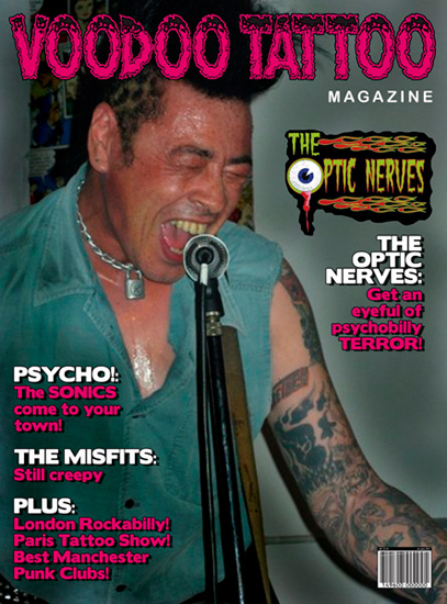 Voodoo Tattoo Magazine cover mock-up