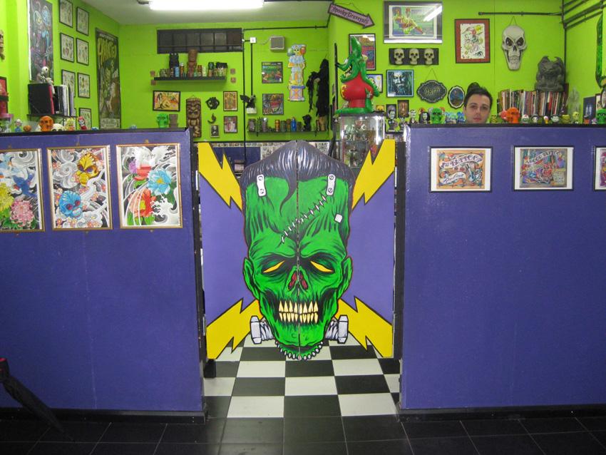 inside Haunted Tattoo Shop